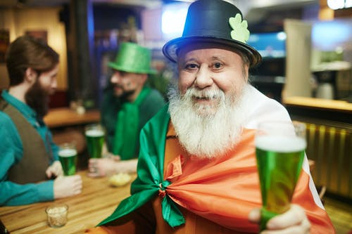 Bearded Man Celebrating Saint Patricks Day