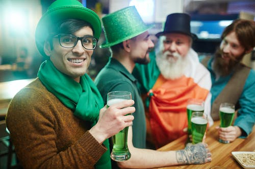 Man With Green Hat and Green Beer