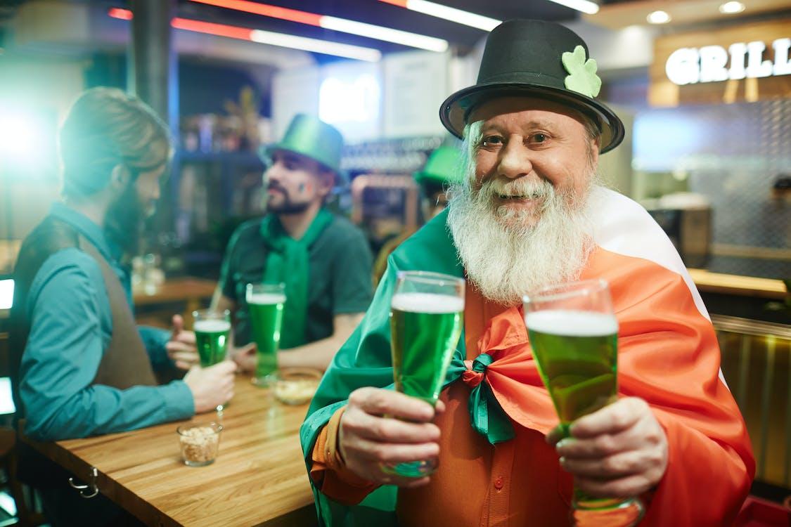 Senior Man Celebrating Saint Patricks Day
