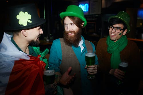 Friends Celebrating Saint Patricks Day