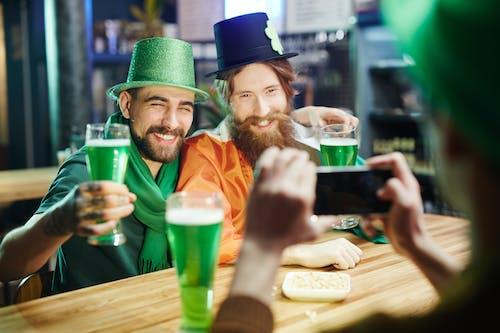 Friends Celebrating Saint Patricks Day