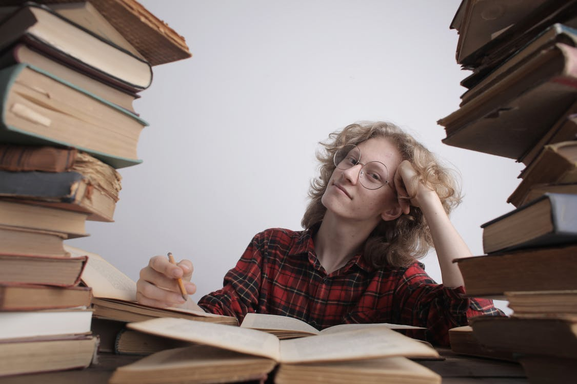 библиотека, Взрослый, девочка