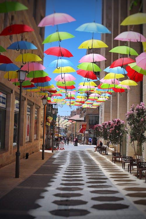 Free stock photo of jerusalem, street, umbrella