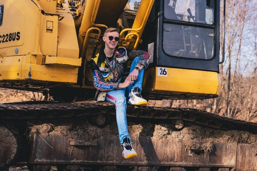 Free stock photo of black and yellow, caution, construction machinery, fashion