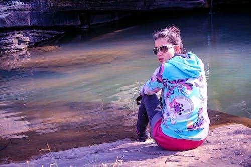 Free stock photo of beautiful, bluedress, cute, fashion