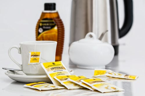 Základová fotografie zdarma na téma bylinkový čaj, čaj, čajové sáčky, heřmánek