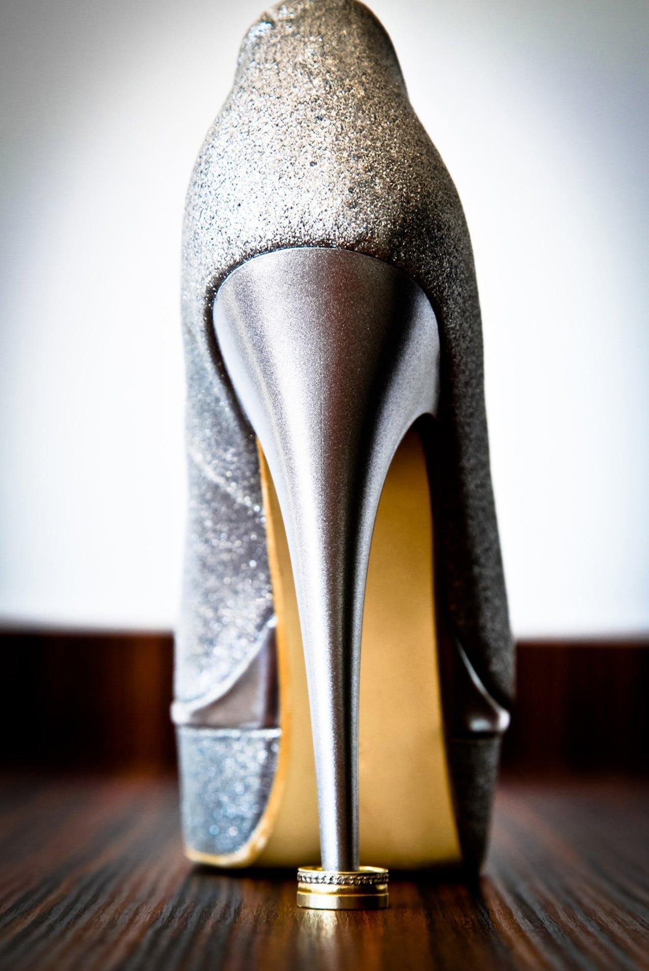 Women's Silver Stiletto