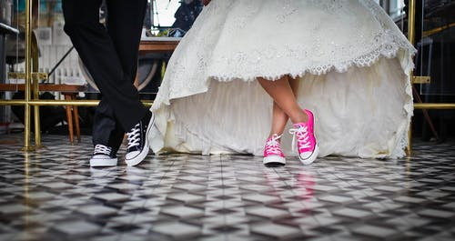 คลังภาพถ่ายฟรี ของ การแต่งงาน, ของเจ้าสาว, คู่, รองเท้า