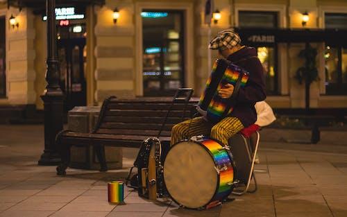 Ilmainen kuvapankkikuva tunnisteilla elävä musiikki, harmonikka, kaupungin yö, Moskova