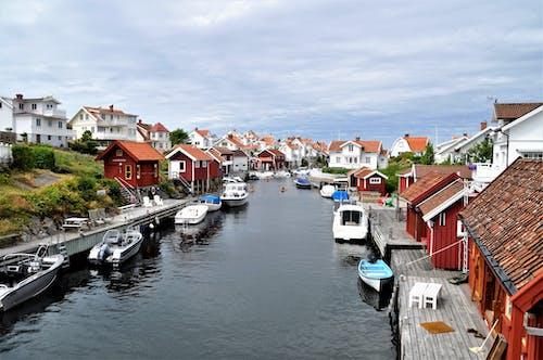 Free stock photo of archipelago, boats, cliffs