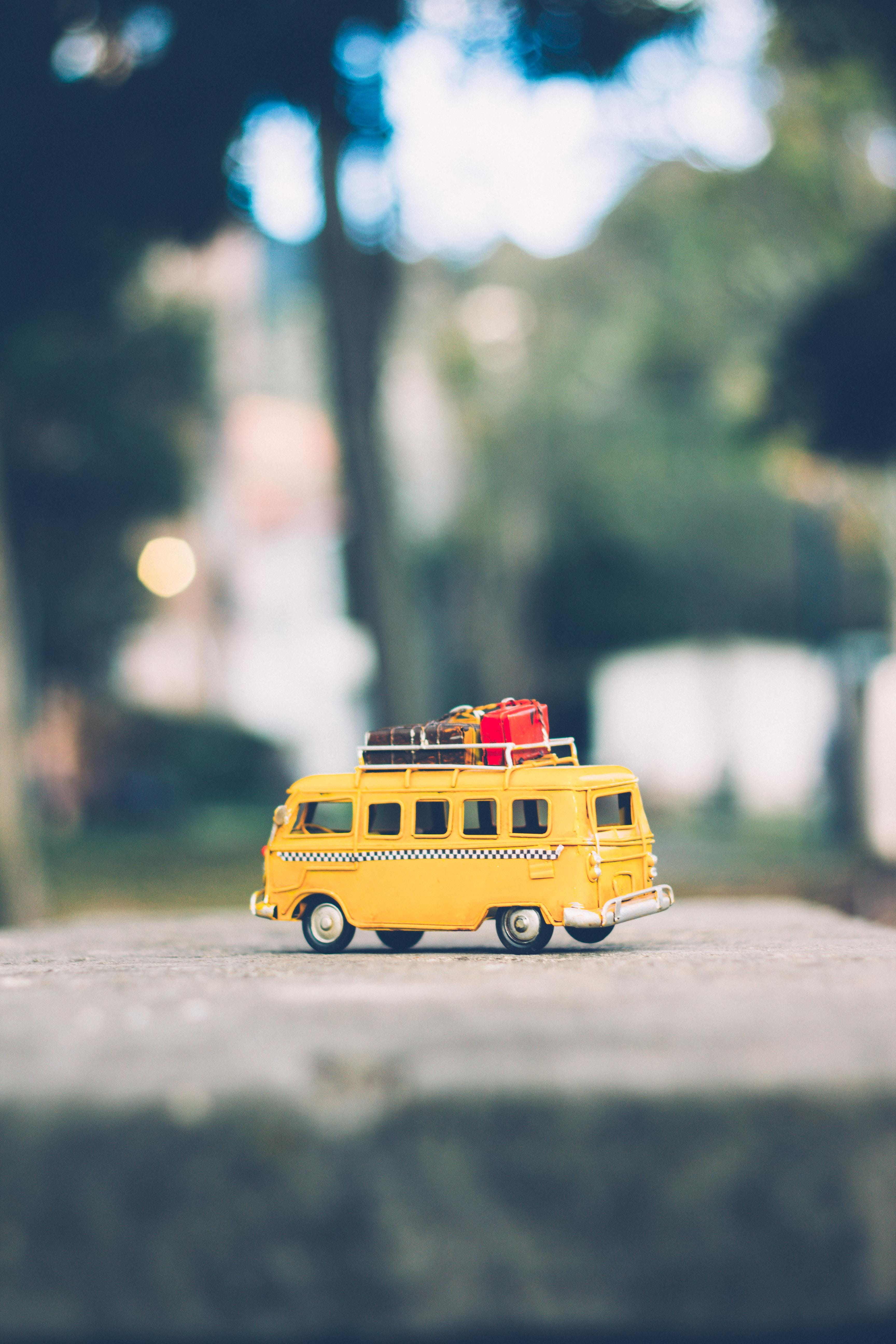 Free stock photo of blurred, miniature toy, taxi, toy