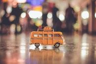 gelb, fahrzeug, bus