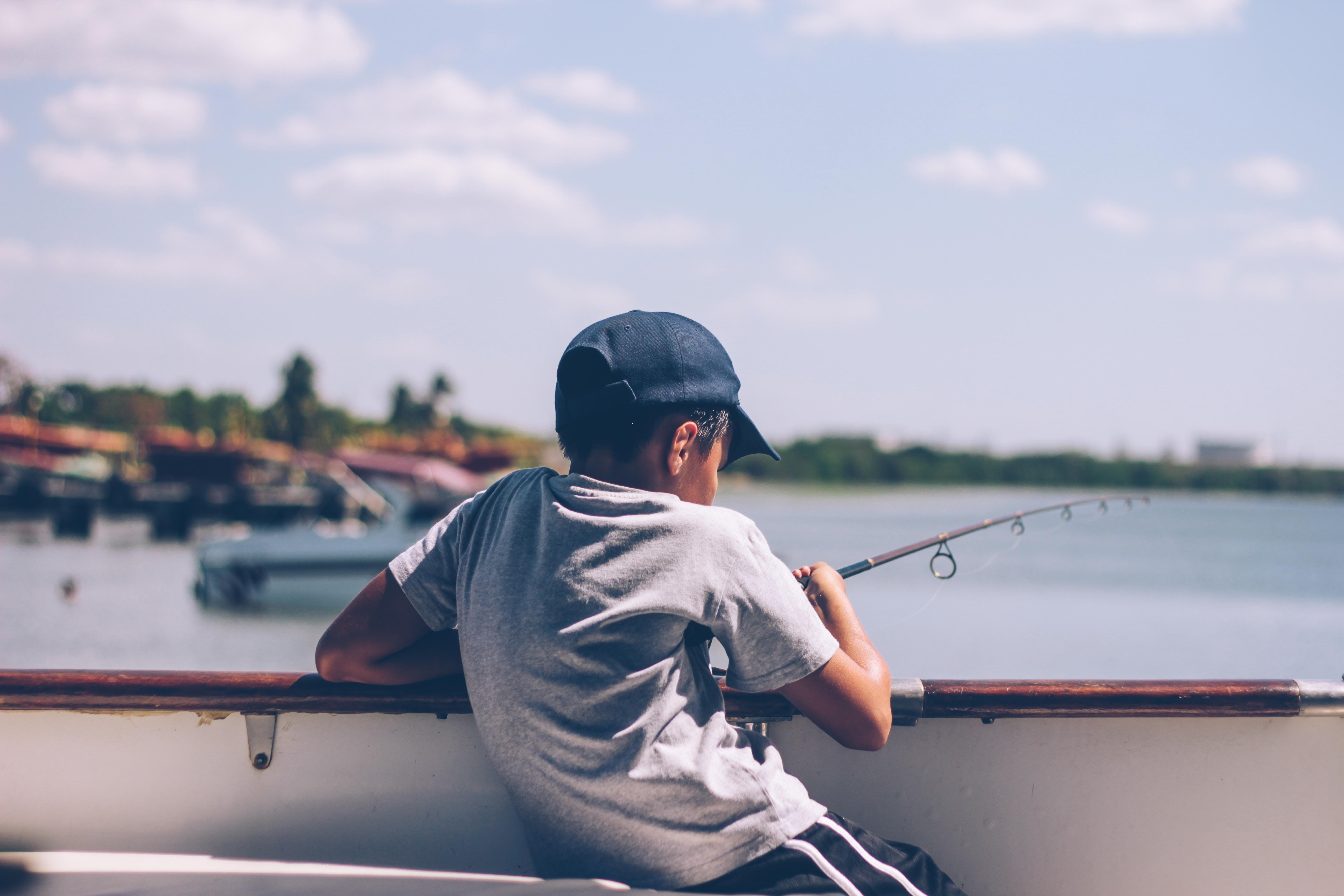 Boy Holding Fishing Rod
