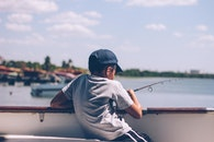 fishing, sea, person