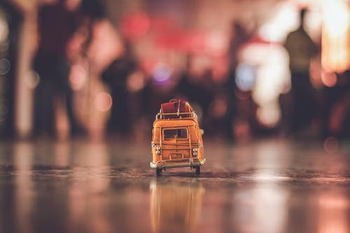 Selective Focus Photography of a Toy Bus
