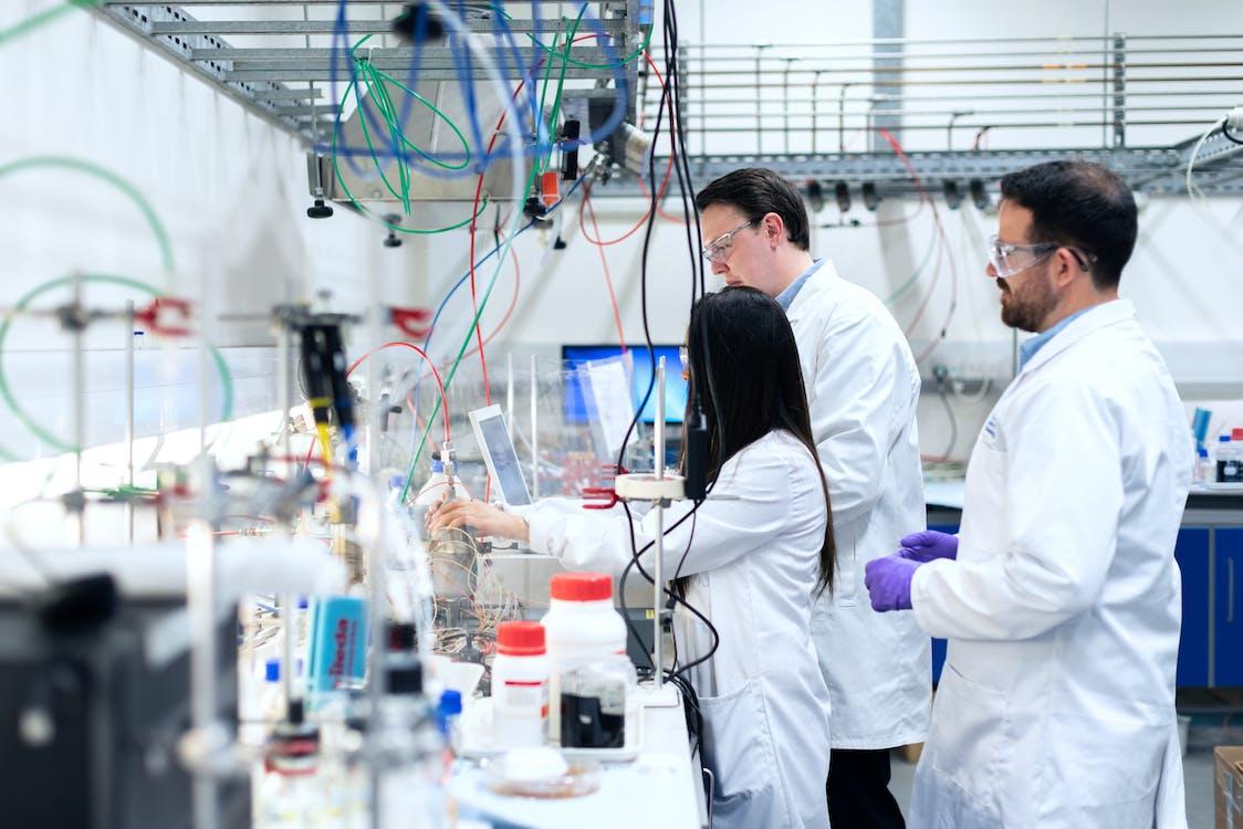 analisi, camice da laboratorio, chimica