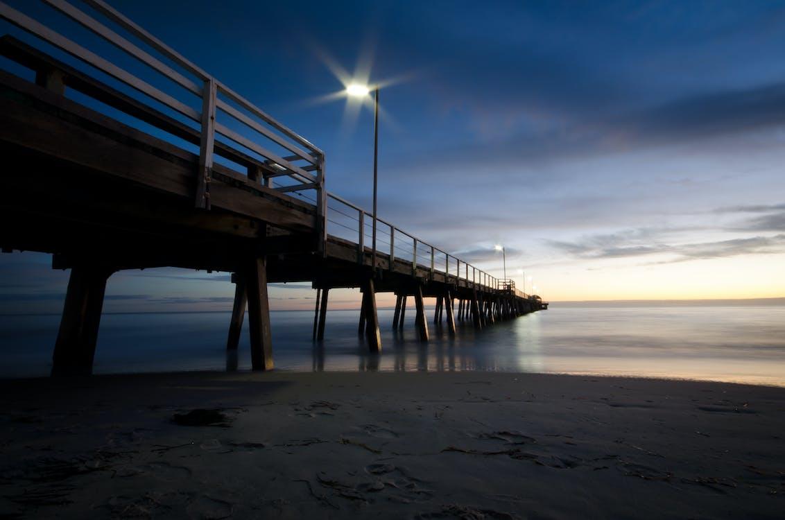 Free stock photo of jetty, sunset