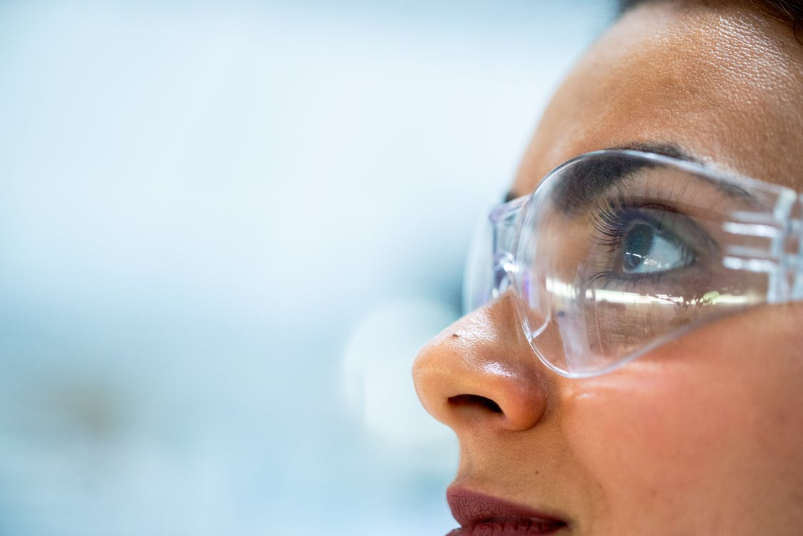 Close-Up Photo Of Woman Wearing Protective Goggles