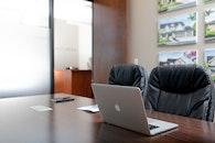 desk, laptop, office