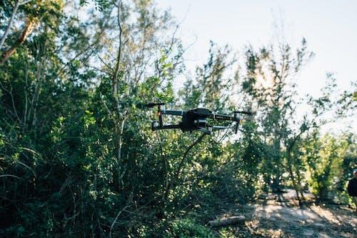 Black Drone Flying