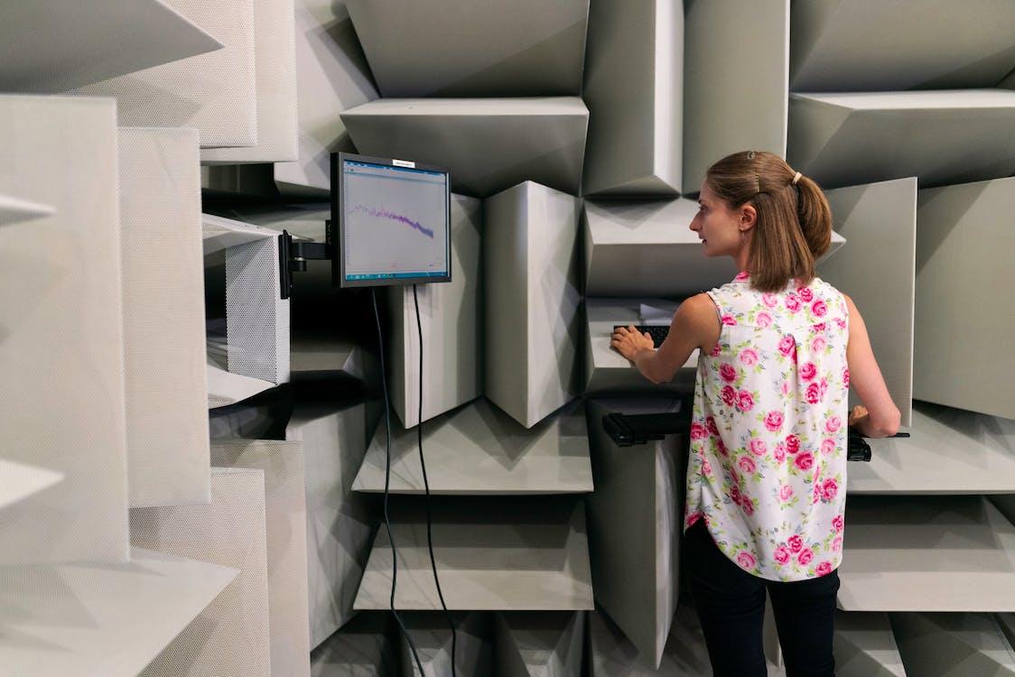 Female Engineer in Sound Studio