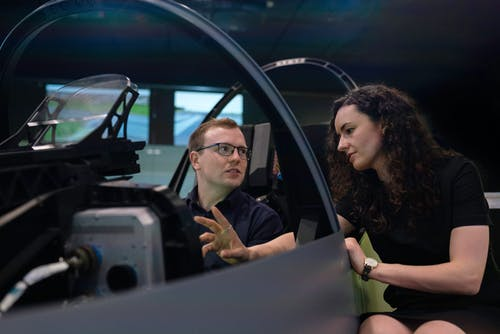 Engineers in Flight Simulator