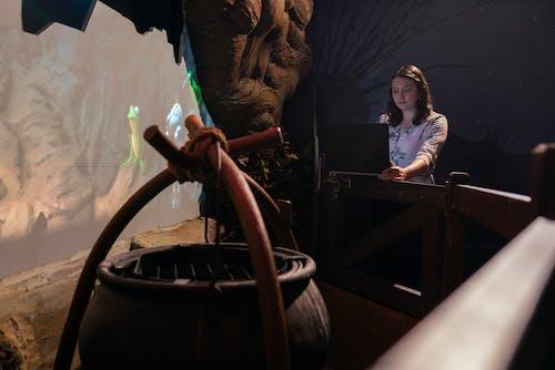 Female Engineer Designing Theme Park Ride