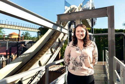 Female Engineer in Amusement Park