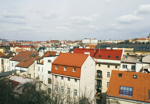 Free stock photo of city, houses, roof, orange