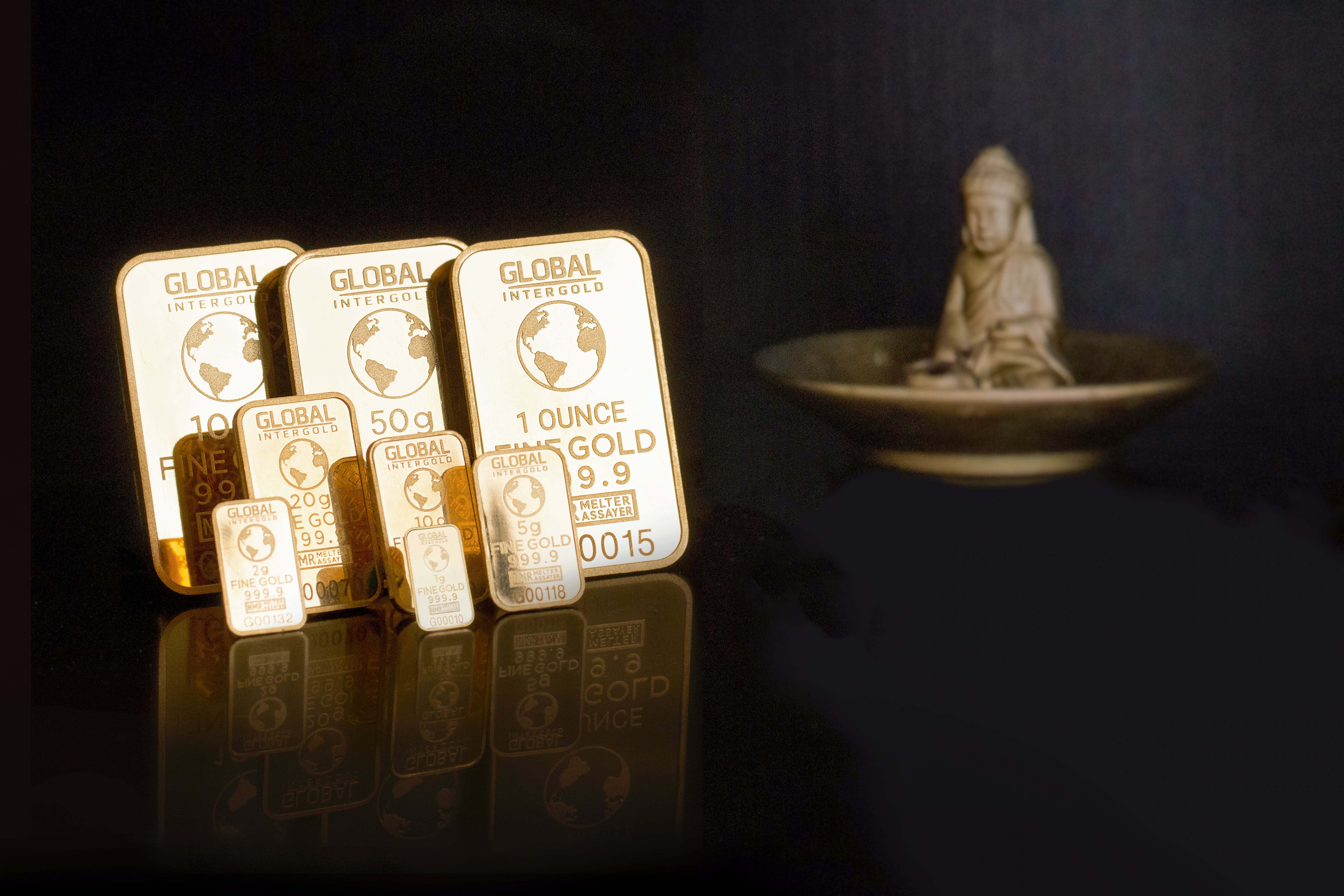 Free stock photo of global intergold, gold bars, gold is money, gold shop