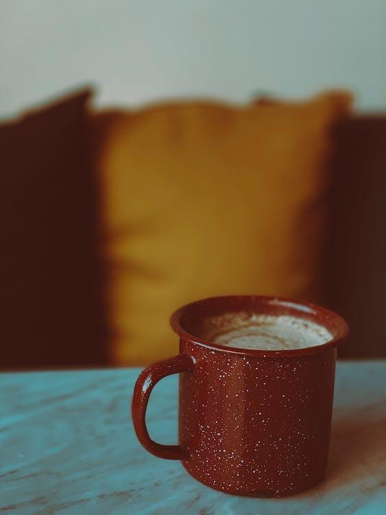 Brown Ceramic Mug On Table