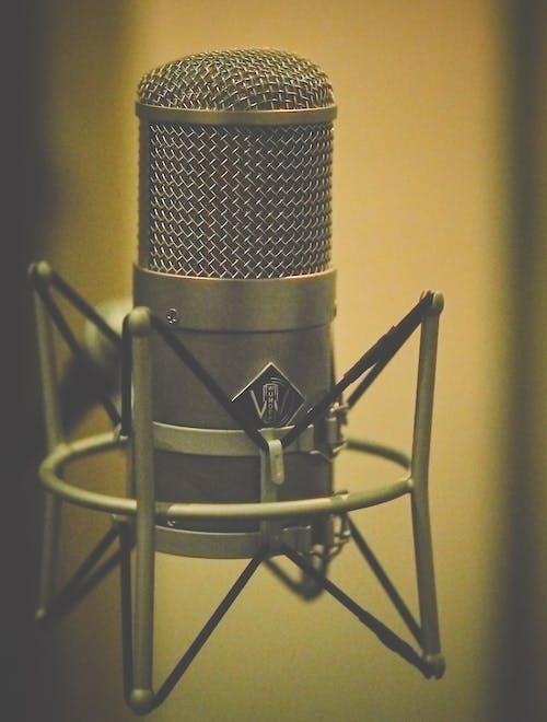 Foto d'estoc gratuïta de estudi de gravació, micròfon, micròfon d'estudi