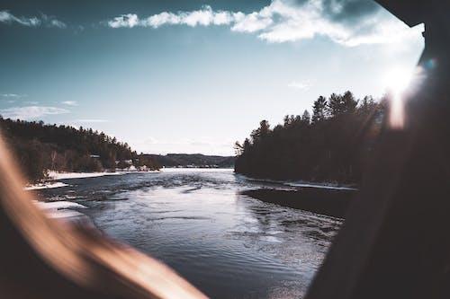 Free stock photo of arctic nature, bridge, lake, landscape photography