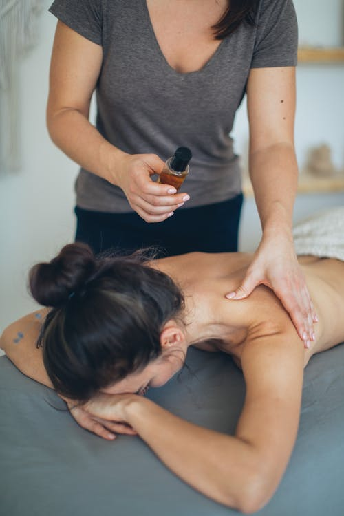 Woman Having A Massage In A Parlor