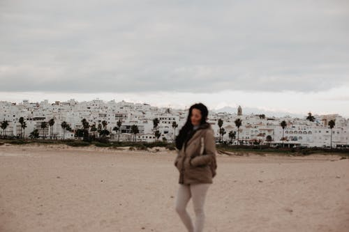 Free stock photo of beach, beach sand, beige, cloudy sky