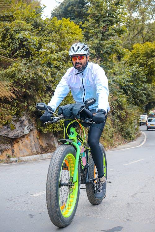 Foto d'estoc gratuïta de anant amb bici, anant en bici, arbre, arbre verd