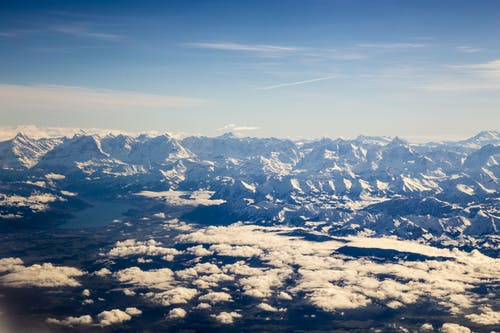 Free stock photo of alps, blue mountains, cloud