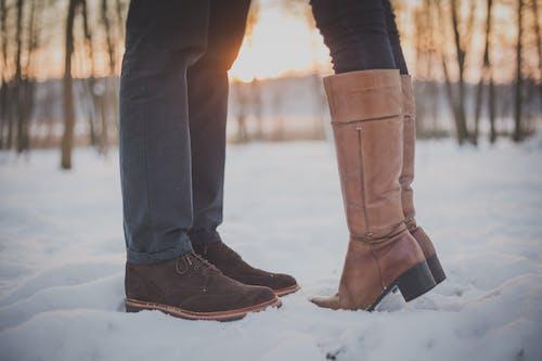 Immagine gratuita di coppia, inverno, neve