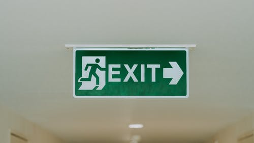 Free stock photo of emergency exit, exit, exit sign