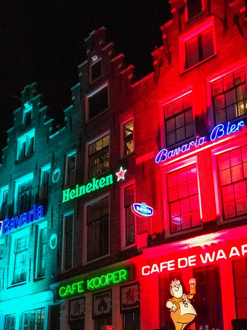Free stock photo of amsterdam, lights, neon