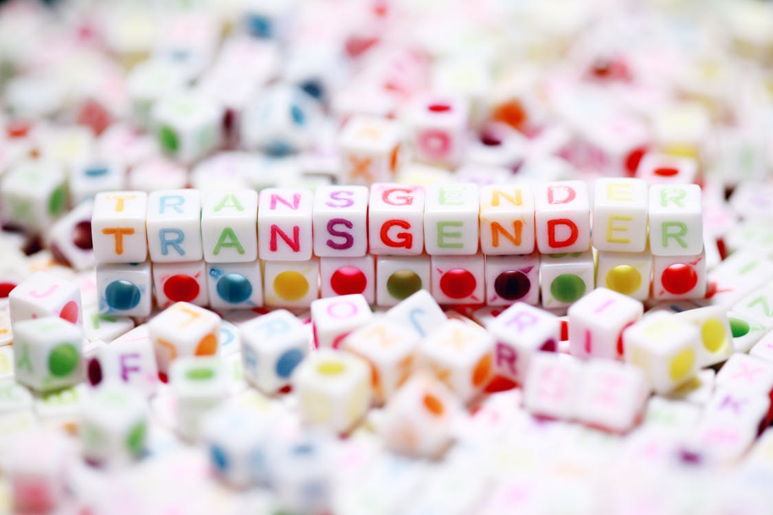 Cubes Spelling the Word Transgender
