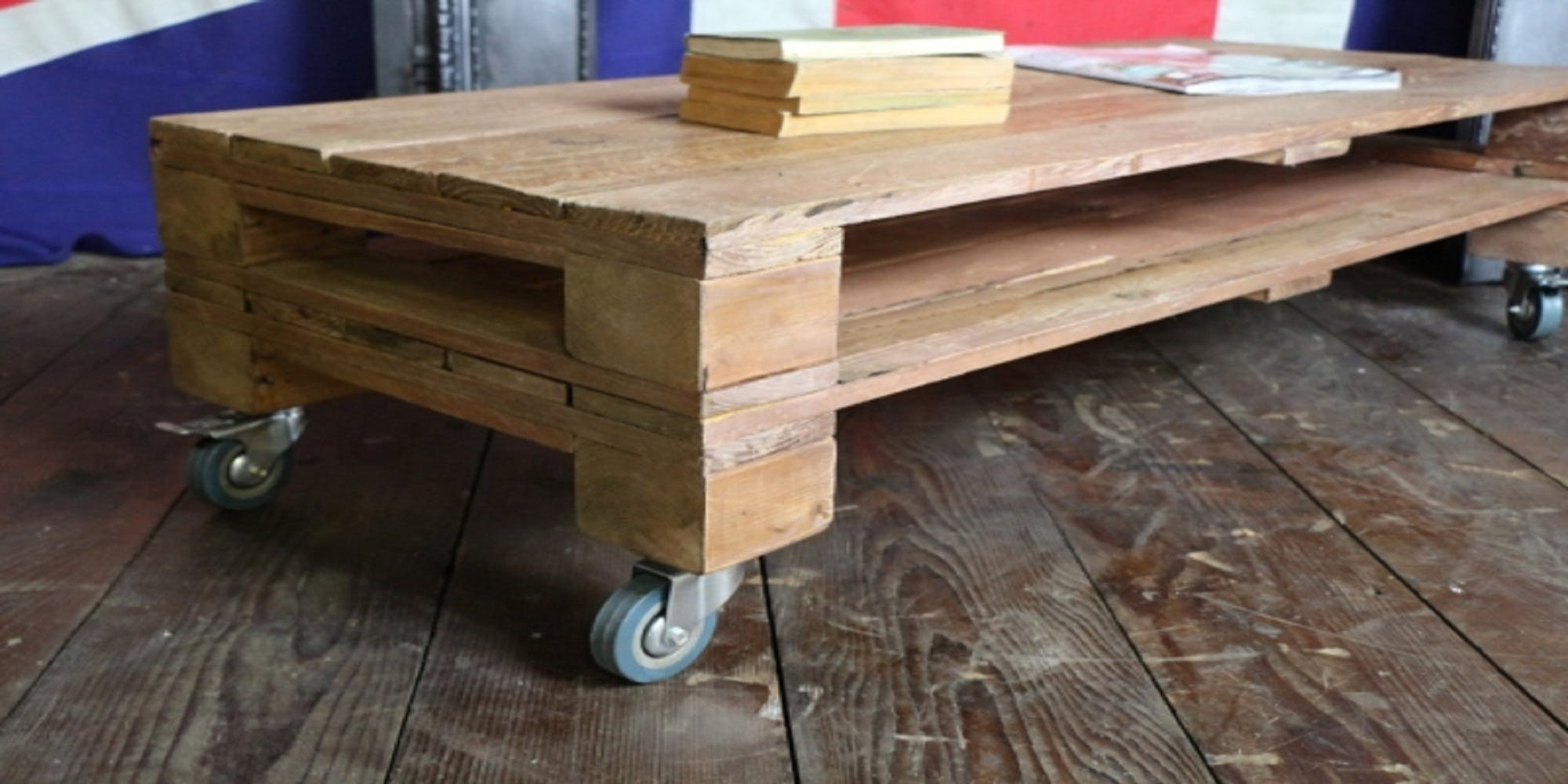 Antique Vintage Upcycle Style Pallet Pine Coffee T