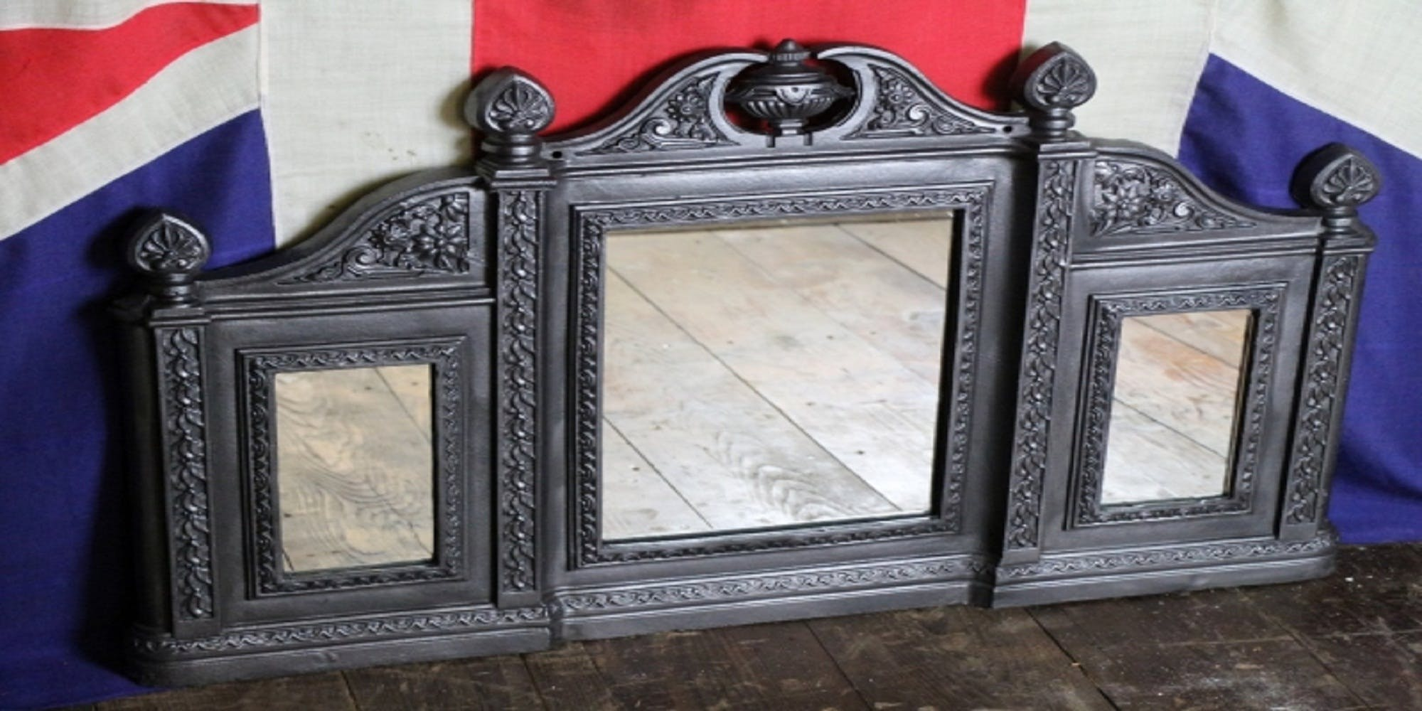 Reclaimed Antique Victorian Style Cast Iron Overma