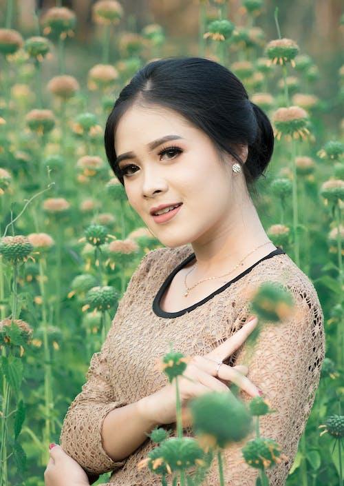 アジア人, フラワーズ, 庭園の無料の写真素材
