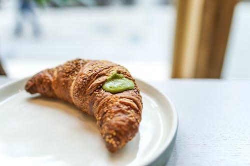 Close-Up Photo Of Croissant