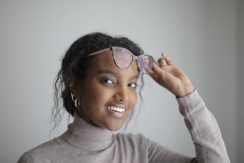 Photo Of Woman Wearing Grey Turtleneck