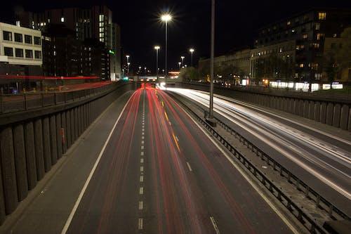 Ảnh lưu trữ miễn phí về đêm thành phố, đèn, đường phố, giao thông