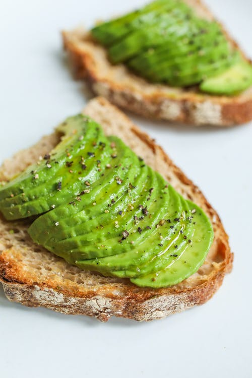 Close-Up Photo Of Sliced Bread With Avocado