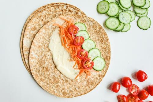 Photo Of Cucumber On Pita Bread
