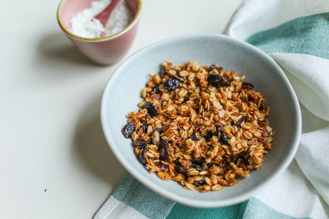 Photo Of Granola On Ceramic Bowl